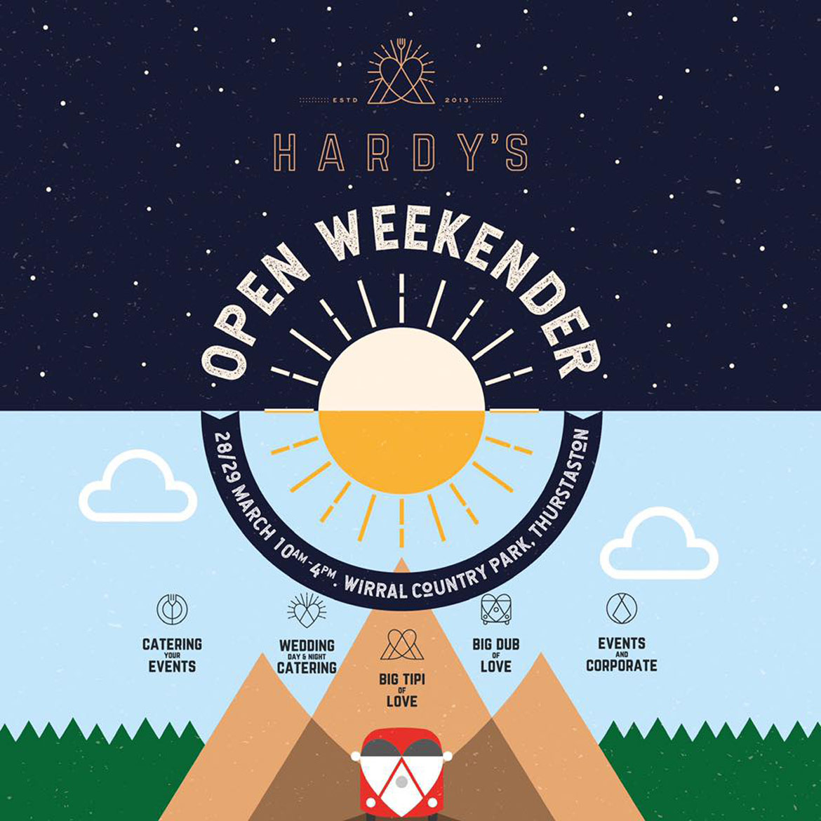 Hardy's Open Weekender tipi & catering event