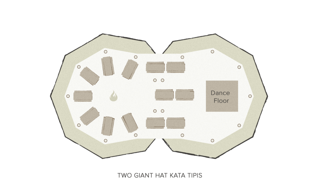 Tipi floor plan - 2 giant Hats