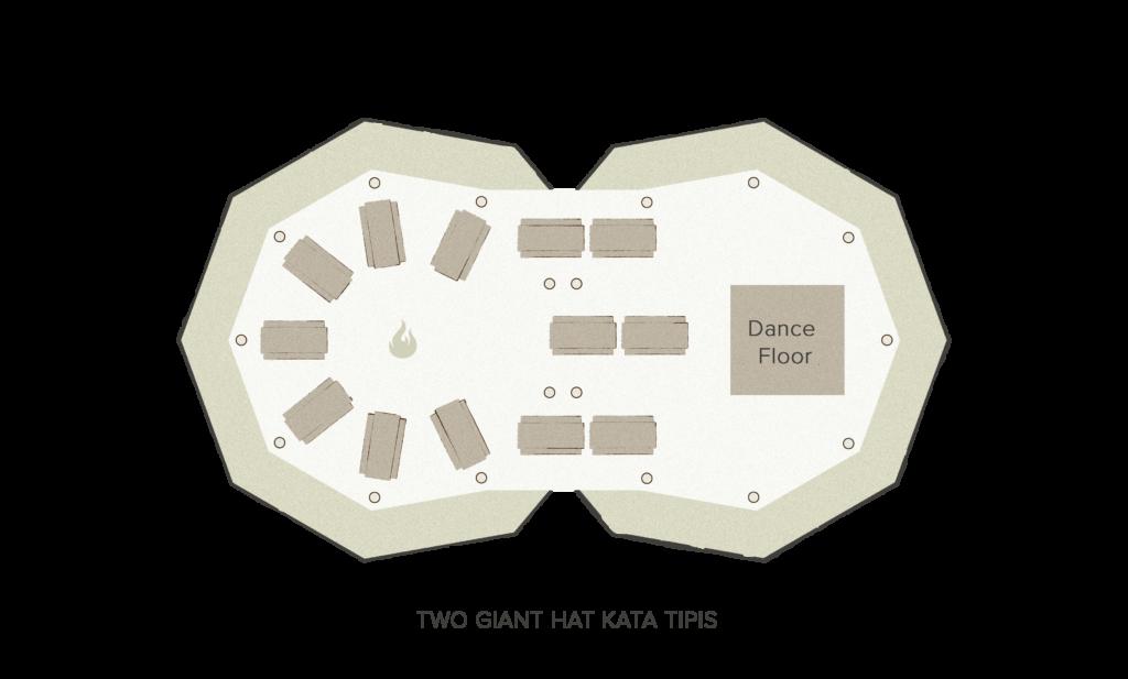Tipi floor plan - 2 giant Hats