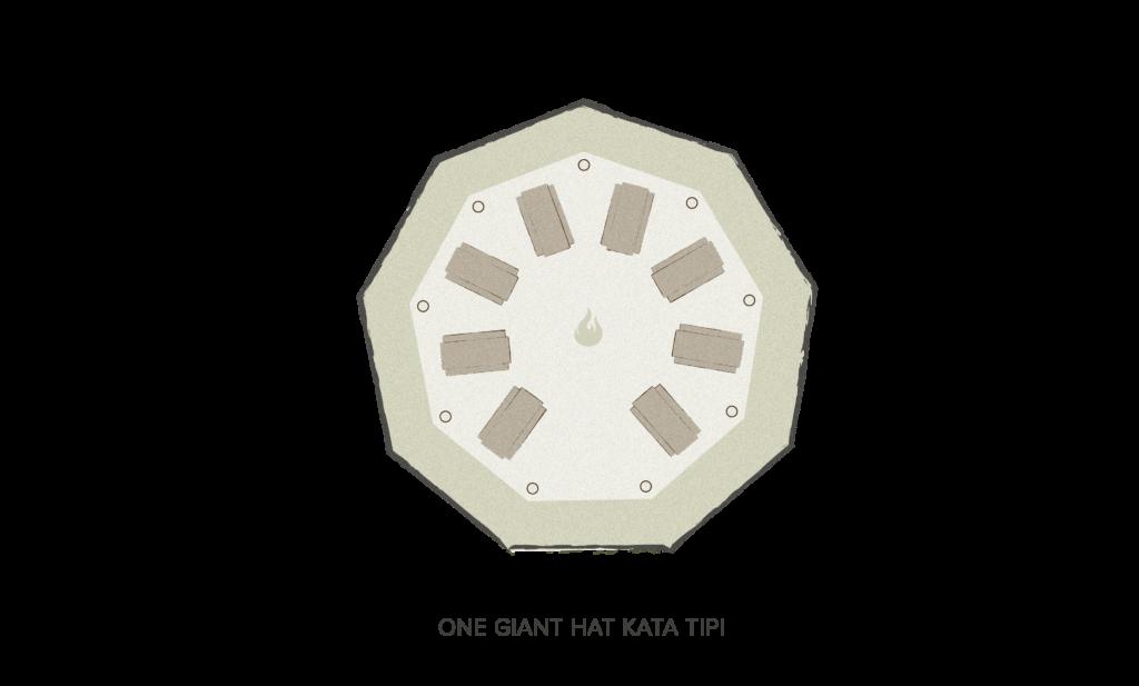 Tipi floor plan - 1 giant Hat