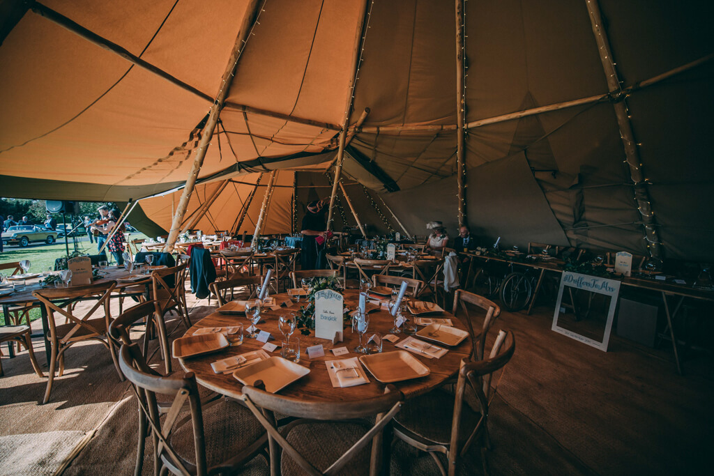 Table plan inside wedding tipi